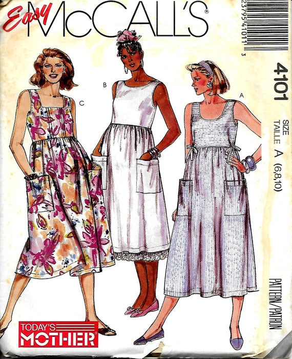 5e6bde6e7 McCall's 4101 Misses Maternity Dress Pattern | Etsy