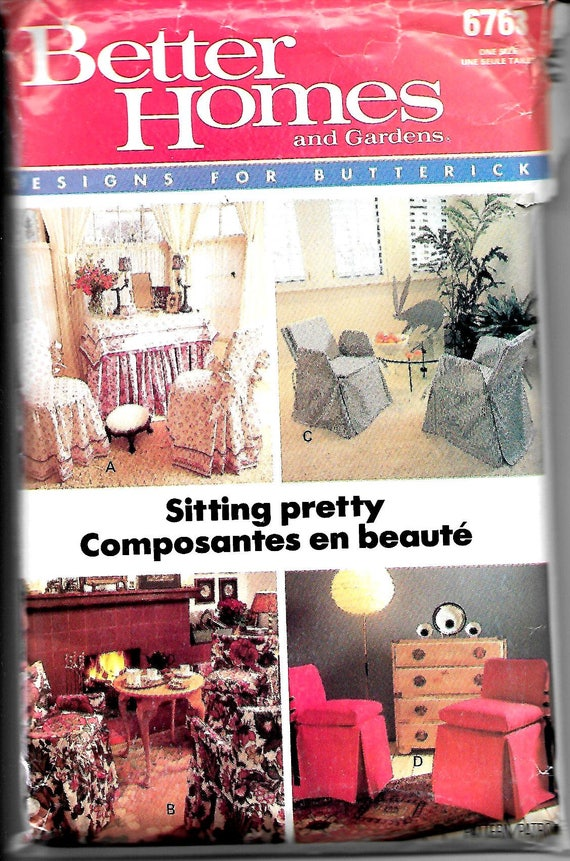Amazing Butterick 6763 Sitting Pretty Chair Covers   Etsy