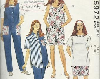 McCalls  5972   Misses Maternity  Jumpsuit, Shirt, T-shirt, Pants or Shorts   Size 10-12