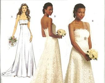 Butterick 5325   Misses Wedding Gown, Evening Gown  Size 6,8,10,12  UNCUT