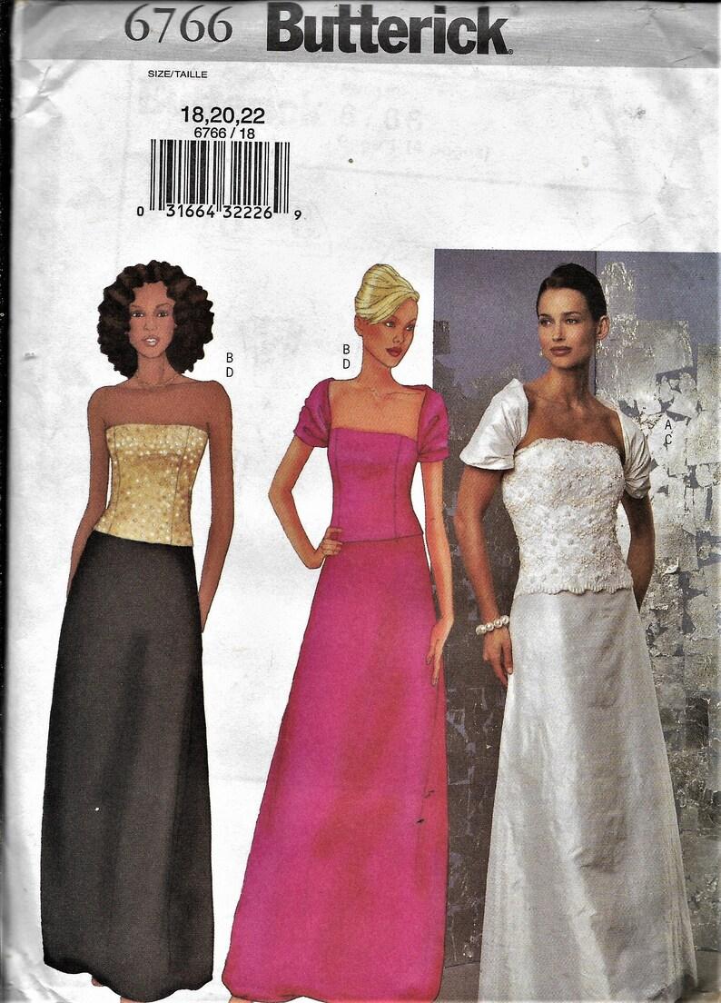 dd9b44c2ac Butterick 6766 Misses/Petite Women's Wedding Gown   Etsy