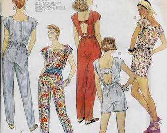 McCall's 2999     Misses  Jumpsuit in Long or Short Length      Size 8    Uncut
