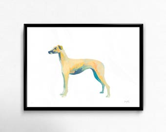 Giclée Limited Edition Greyhound Print made from original Oil Painting