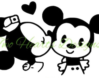 Mickey and Minnie Decal with Just Married Option