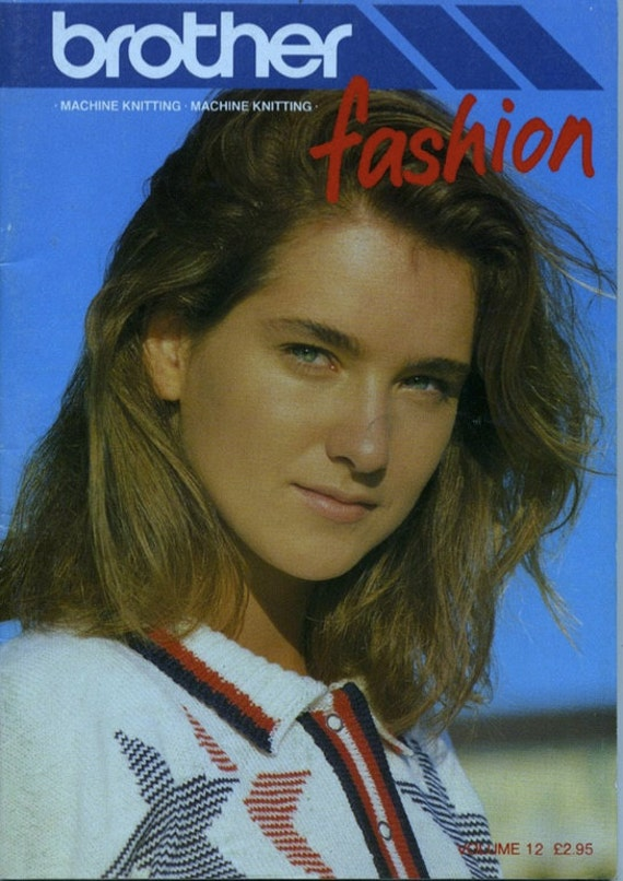 Knitting Machine Patterns Book The Brother Fashion Collection Etsy