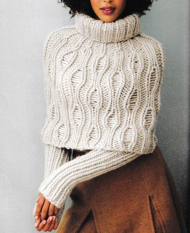 Poncho and arm warmers knitting PATTERN, women's stylish poncho knitting  pattern PDF file, bulky wool yarn poncho knitting pattern