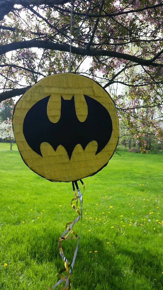 Batman Logo Bat Signal Batman Symbol Pinata Piata Etsy