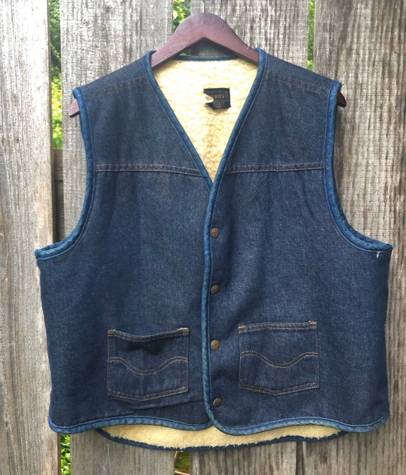 Sears and Roebucks 1970s Denim Vest
