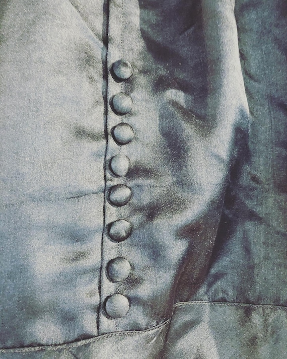 1930s Antique Carriage Dress Silk