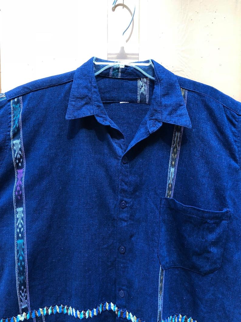 X-Large Guatamalan Mens Embroidery Shirt
