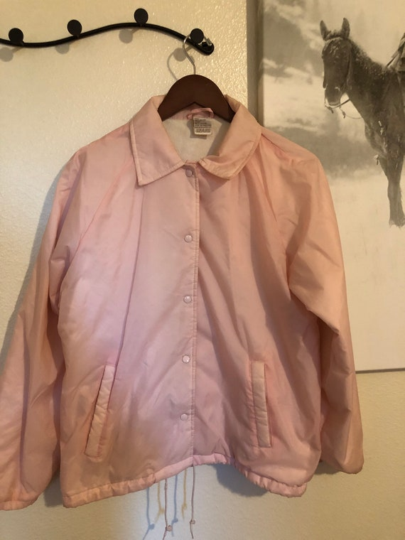 Pink snap up Windbreaker