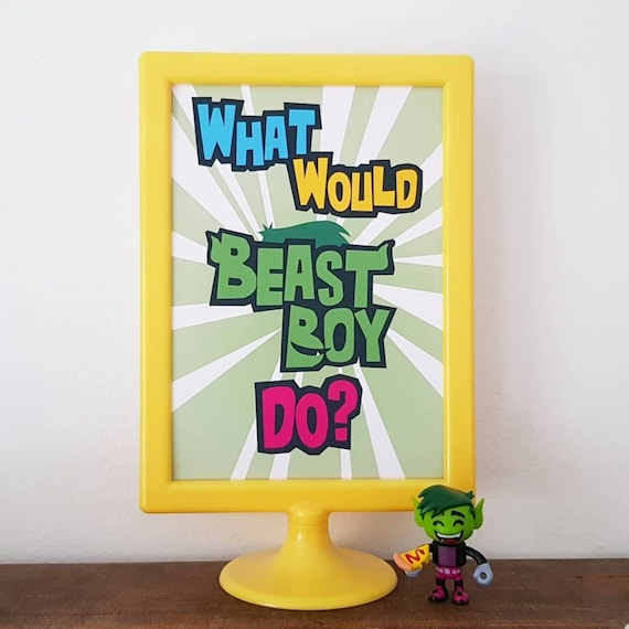 Waffles kitchen decor A4 /& A5 Teen Titans Go picture christmas gift poster gift Waffles Print home decor Waffles