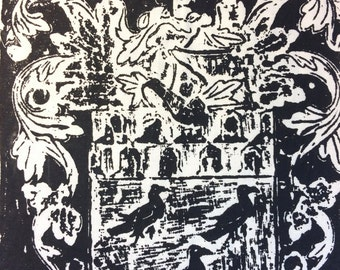 37 - Large Silk Screen - Brass Rubbing