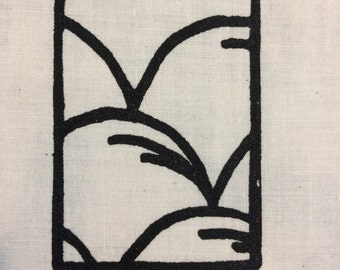 48 - Small Silk Screen - Sashiko