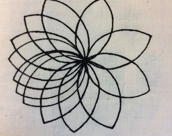34 - Small Silk Screen - Spiral Flower