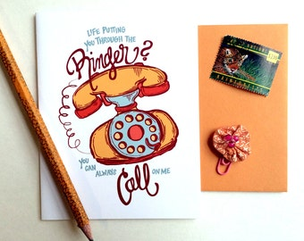 Life Putting You Through the Ringer Greeting Card