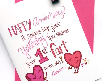 Anniversary Fart Greeting Card