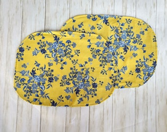 Reversible Placemats, Fabric Washable Placemats Floral Placemats
