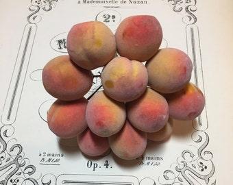 Wonderful bunch of vintage spun cotton millinery peaches