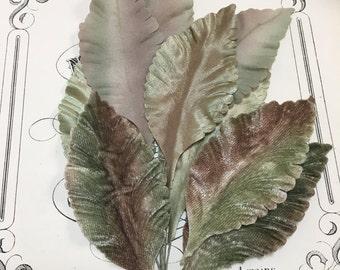 Gorgeous vintage millinery leaves