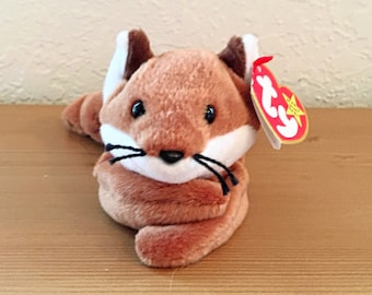 088bed242a0 Vintage Ty Beanie Baby Sly the Fox with White Belly Fourth Generation Swing  Tag Third Generation Tush Tag. Wildlife. Woodland Creatures