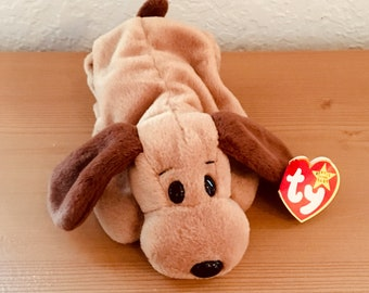 76673e1addd Vintage Ty Beanie Baby Bones with Fourth Generation Hang Tag and Third  Generation Tush Tag. Puppy. Dog. Doggie.Dog Lover. Toy. Gift