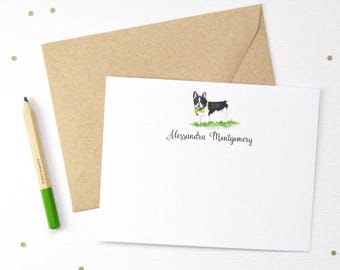 Personalized Stationery / Personalized Stationery Set / Personalized Note Card Set / Personalized Note Cards / French Bulldog