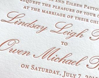 peachey letterpress wedding invitations sample pack