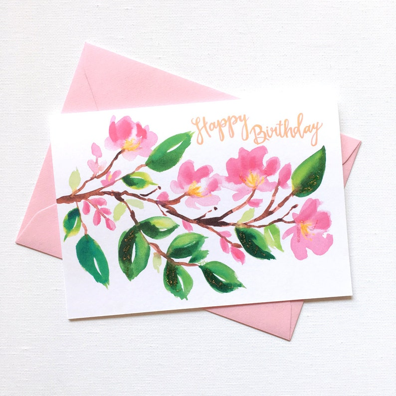 Hand Painted Birthday Card Mom