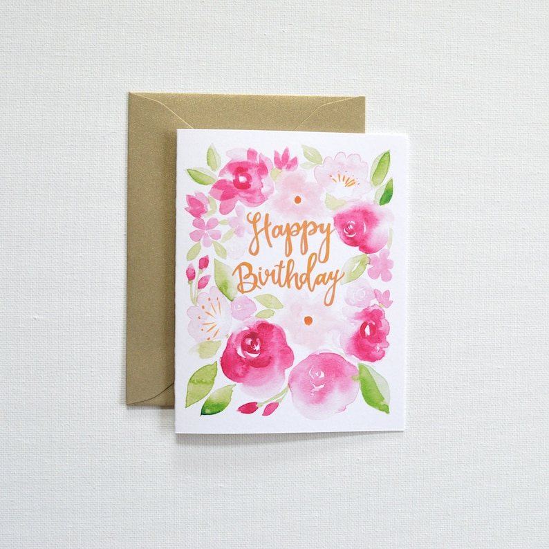 Floral Birthday Card Cards Happy