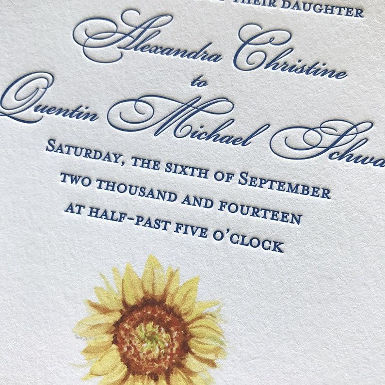 Letterpress Wedding Invitations Fall Deposit