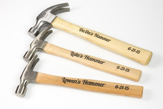 Father and Sons Set of 3 Hammers for Daddy and sons.Combo pack of 3, hammers for little boys and his Dad - Custom Engraved