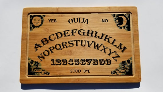 "Laser Engraved Bamboo Cutting Board 12"" x 18"" x 0,5"", Ouija Board Game,Custom Laser engraved. The best gift for any occasion!"