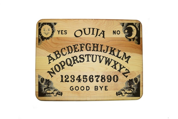 "Laser Engraved Hardwood Cutting Board 12"" x 16"", Ouija Board Game,Custom Laser engraved. The best gift for any occasion!"