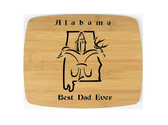 "Cutting Board Custom Laser engraved. 8"" x  10""  The best father! WEDDING! Great gifts for any occasion. Alabama sportsman"