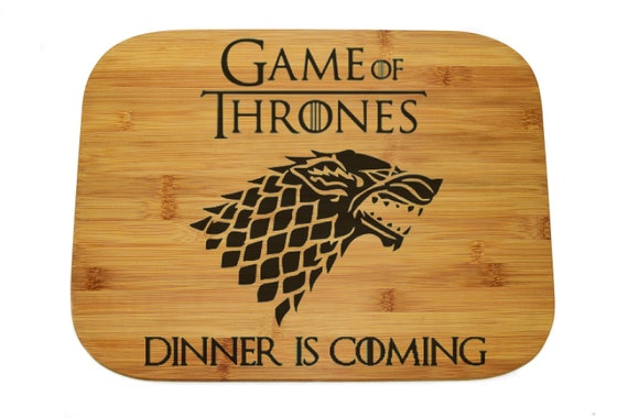 "Game of thrones Cutting Board, Custom Laser engraved,Cutting Bamboo board 11""x15"",The best gift for father! WEDDING!"