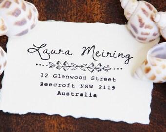 Custom Return Adress Stamp - Laura Meiring