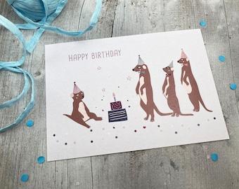 "Birthday Card - ""Earth Men"""