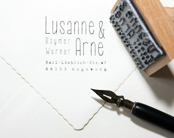 Adress Stamp - Lusanne and Arne