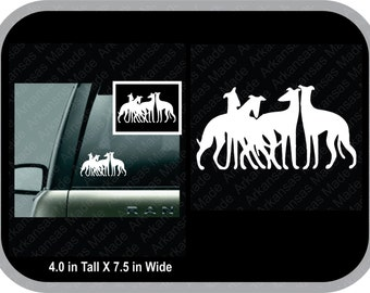Greyhound group, greyhound chip, Greyhound decal 7.5 inches wide, can't have just one truck decal car decal
