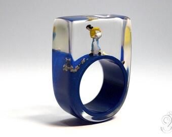 Wild Republic Blue /& Cream Cord Cuff Bracelet Woven Childrens Jewellery