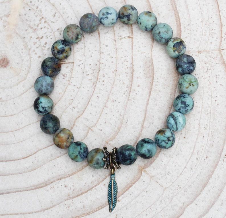 mala beads African Turquoise gemstone stackable bracelets bracelet for women gemstone bracelet Mala Bracelet beaded,bracelet for women