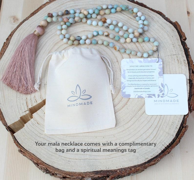 mala,mala tassel necklace women necklace 108 beads necklace mala Mala Necklace Fossil Jasper gemstone gift,yoga jewelry boho jewelry