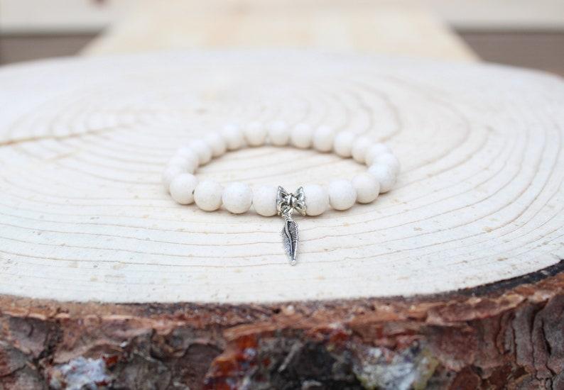 bracelet for women yoga bracelet beaded bracelet Fossil Jasper gemstone Mala Bracelet bracelet medidation bracelet gift,women bracelet