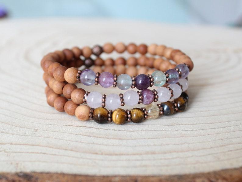 spiritual bracelet bracelet for women tiger eye and citrine gemstone beaded Mala Bracelet bracelet beaded bracelet Chakra bracelet