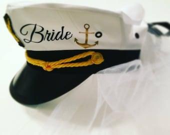 682d7093864 Sailor hat with veil