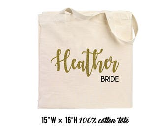 Tote Bridesmaid gifts, bachelorette party gift, bridal party gifts, bridesmaid tote, bride tote, maid of honor tote, tote bags