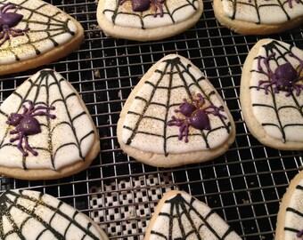 HALLOWEEN SPIDER WEB sugar cookie
