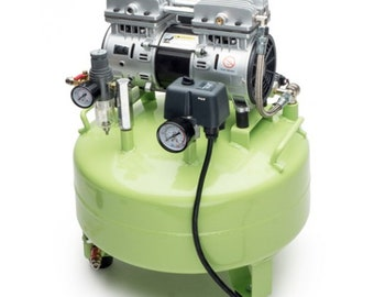Silent Oilless Air Compressor 6.3 Gal Oil Free W Air Filter for Jeewelry Medical Denta WA 500-70