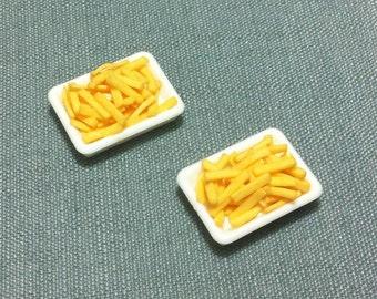 1:12 Maßstab 50 Französisch Fries Pommes Puppenhaus Miniatur Küche Essen